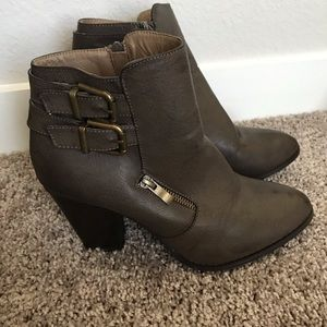 just fab chocolate brown booties